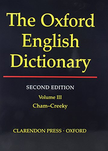 Oxford English Dictionary Edition Volume 3 By J A Simpson