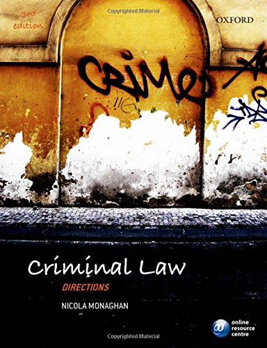 Criminal Law Directions 3/e (Directions series) By Nicola Monaghan