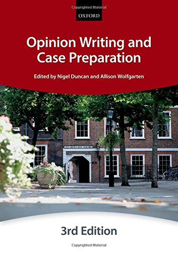 Opinion Writing and Case Preparation (Bar Manual: Opinion Writing And Case Preparation) (Bar Manuals) By The City Law School