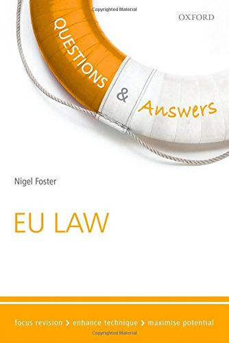 Questions & Answers EU Law 2015-2016 By Nigel Foster