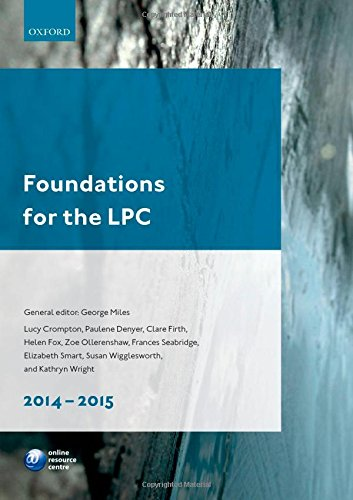 Foundations for the LPC 2014-15 By George Miles