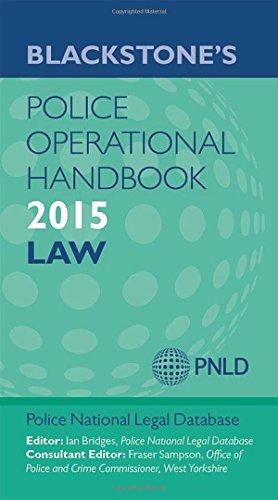 Blackstone's Police Operational Handbook 2015 (Blackstones Police Handbook) By Edited by Police National Legal Database