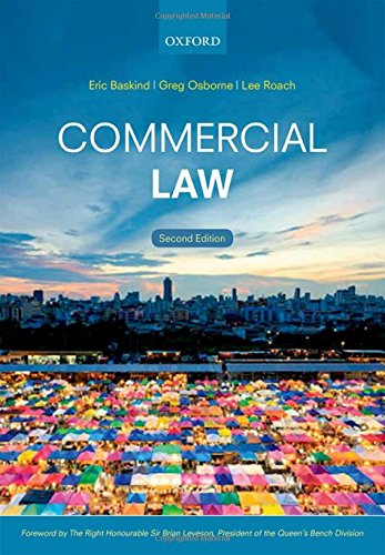 Commercial Law By Eric Baskind (Senior Lecturer in Law, Liverpool John Moores University)