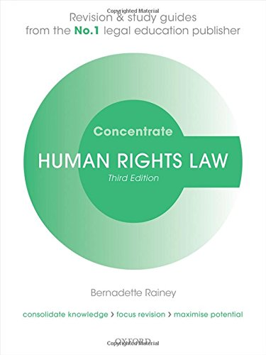 Human Rights Law Concentrate Law Revision and Study Guide 3/e By Bernadette Rainey (Senior Lecturer in Law, Cardiff University)