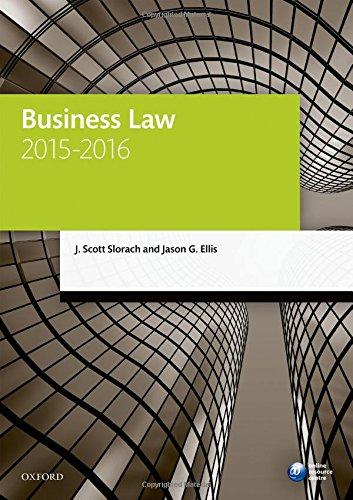 Business Law 2015-2016 By J. Scott Slorach