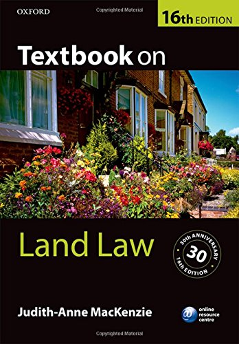 Textbook on Land Law 16/e By Judith-Anne MacKenzie