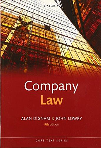 Company Law 9/e (Core Texts Series) By Alan Dignam