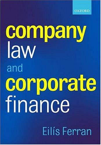 Company Law and Corporate Finance By Eilis Ferran