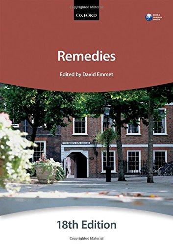 Remedies (Blackstone Bar Manual) By The City Law School