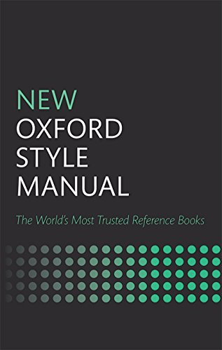 New Oxford Style Manual By Edited by Oxford University Press