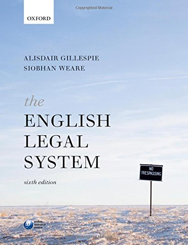 The English Legal System By Alisdair Gillespie (Head of Department and Professor of Law, Head of Department and Professor of Law, Lancaster University)