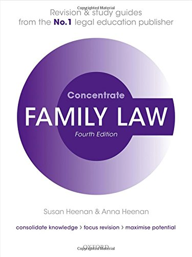 Family Law Concentrate By Susan Heenan (Principal Lecturer in Law, University of the West of England)