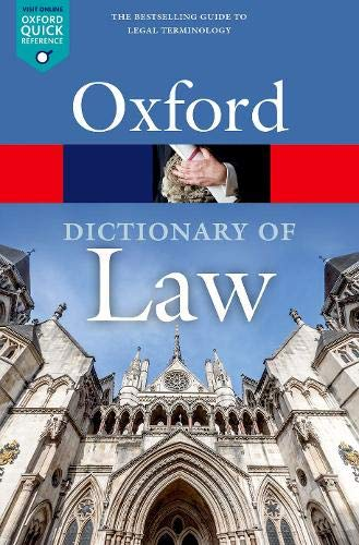A Dictionary of Law (Oxford Quick Reference) By Edited by Jonathan Law (Market House Books)