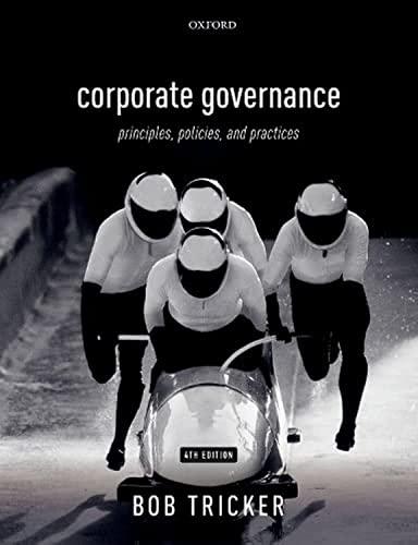 Corporate Governance By Bob Tricker (Former Professor of Finance, Hong Kong University and Hong Kong Open University)