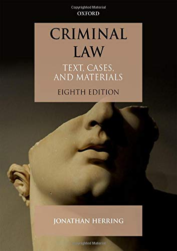 Criminal Law By Jonathan Herring (Professor of Law, Professor of Law, Exeter College, Oxford)