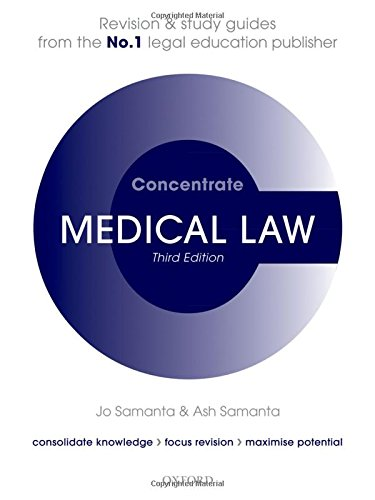 Medical Law Concentrate: Law Revision and Study Guide By Jo Samanta (Professor of Medical Law, De Montfort University)