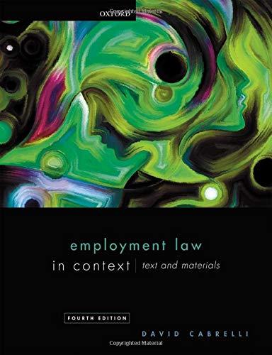 Employment Law in Context By David Cabrelli (Professor of Labour Law, Professor of Labour Law, University of Edinburgh)
