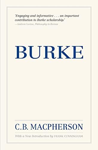 Burke, Reissue By C. B. Macpherson