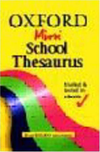 Oxford Mini School Thesaurus By Alan Spooner