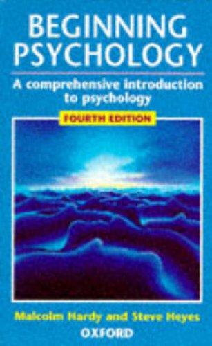Beginning Psychology By Malcolm Hardy