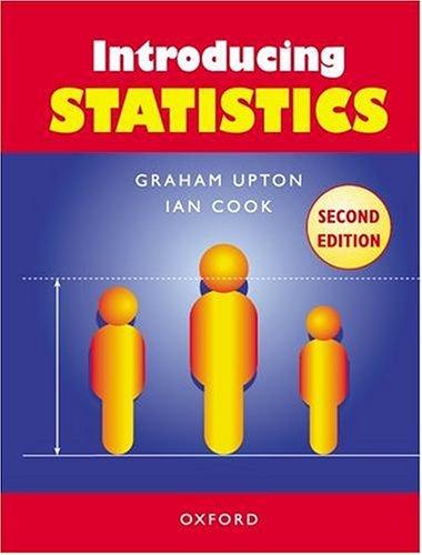 Introducing Statistics By Graham J. G. Upton