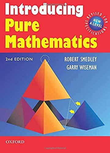 Introducing Pure Mathematics By Robert Smedley