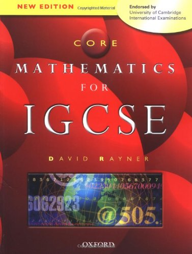 Core Mathematics for IGCSE By David Rayner