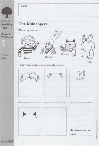 Oxford Reading Tree: Level 8: Workbooks: Workbook 1: The Kidnappers and Viking Adventures (Pack of 6) By Thelma Page