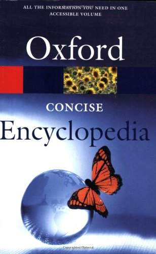 Concise Encyclopedia (Oxford Paperback Reference) Edited by Jonathan Law