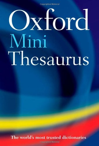 Oxford Mini Thesaurus By Edited by Sara Hawker