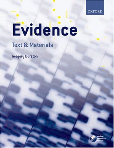 Evidence By Gregory Durston