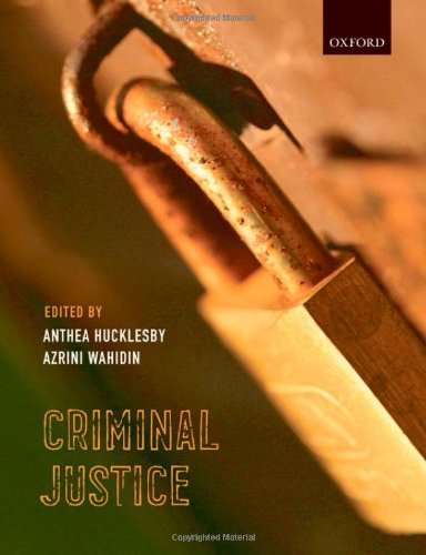Criminal Justice By Anthea Hucklesby