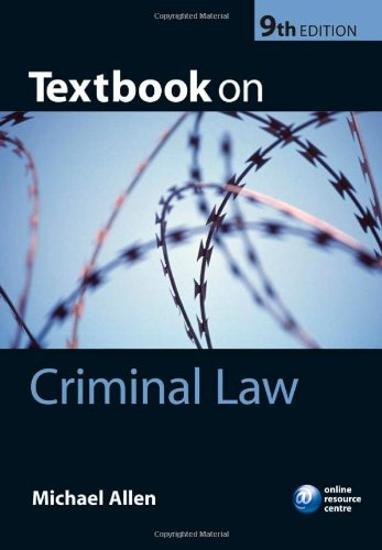 Textbook on Criminal Law by Michael J. Allen