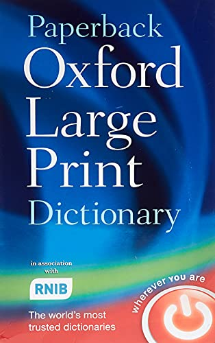 Paperback Oxford Large Print Dictionary By Oxford Dictionaries