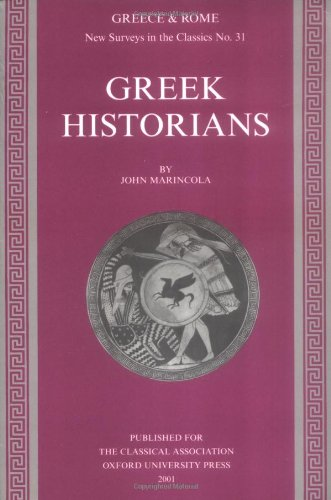 Greek Historians By John Marincola (Florida State University)