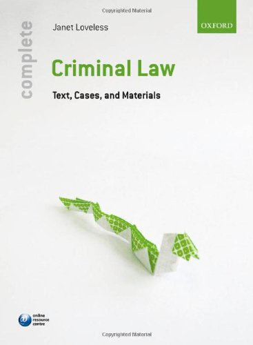 Complete Criminal Law By Janet Loveless