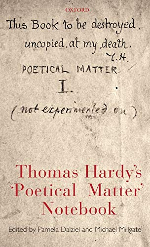 Thomas Hardy's 'Poetical Matter' Notebook By Pamela Dalziel (University of British Columbia)