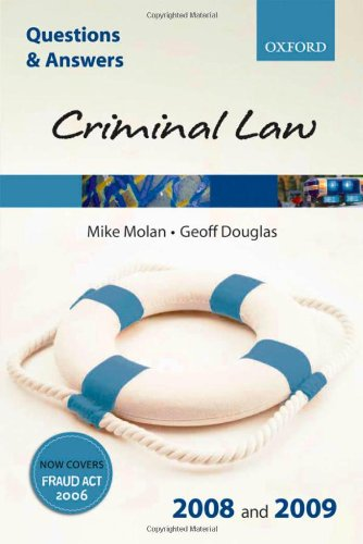 Criminal Law By Mike Molan