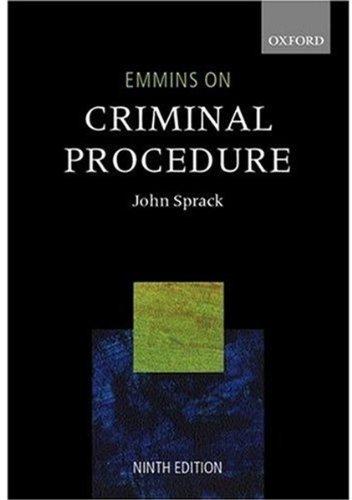 Emmins on Criminal Procedure By Christopher J. Emmins