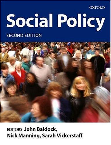 Social Policy By Edited by John C. Baldock