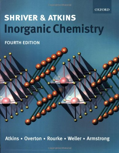 Shriver and Atkins Inorganic Chemistry By Peter Atkins
