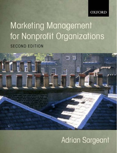 Marketing Management for Non-profit Organizations By Adrian Sargeant
