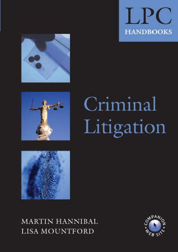 LPC Handbook on Criminal Litigation By Martin Hannibal