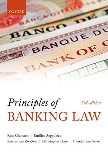 Principles of Banking Law By Ross Cranston