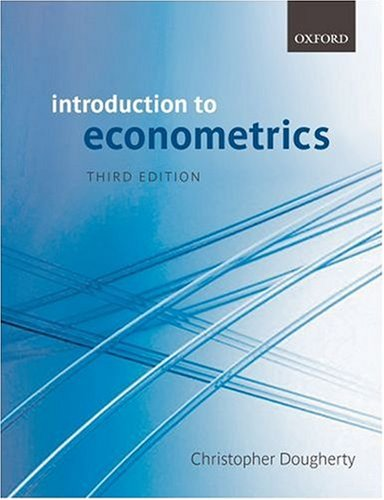 Introduction to Econometrics By Christopher Dougherty