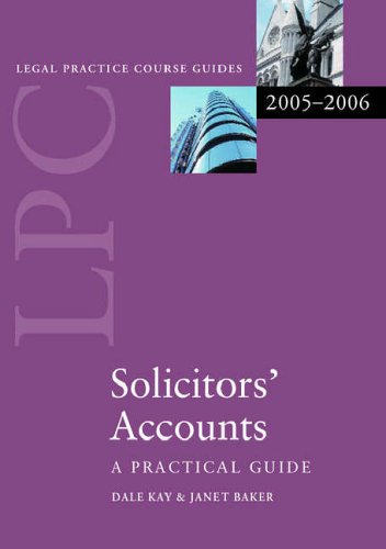 Solicitors' Accounts- By Dale Kay