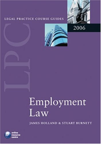 LPC Employment Law By James Holland