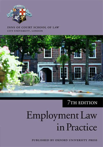 Employment Law in Practice By Inns of Court School of Law