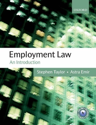 Employment Law By Stephen Taylor