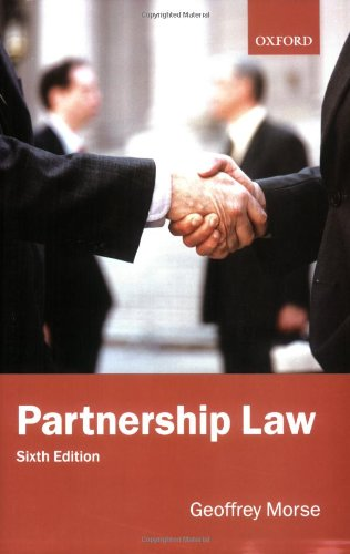 Partnership Law By Geoffrey Morse